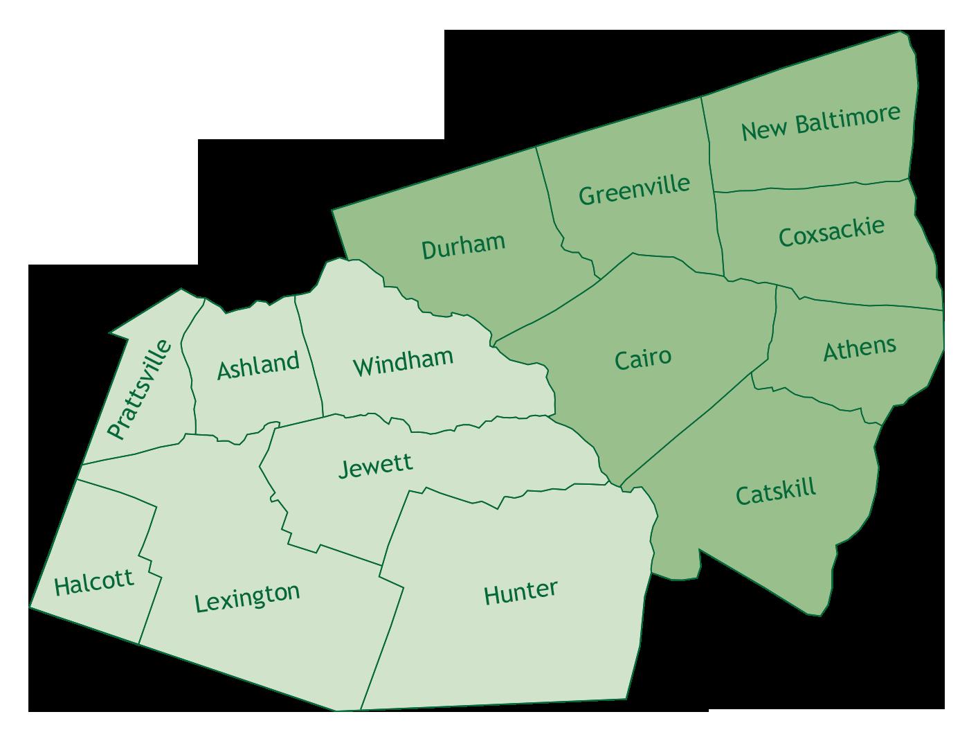 Mountain Towns in Greene County