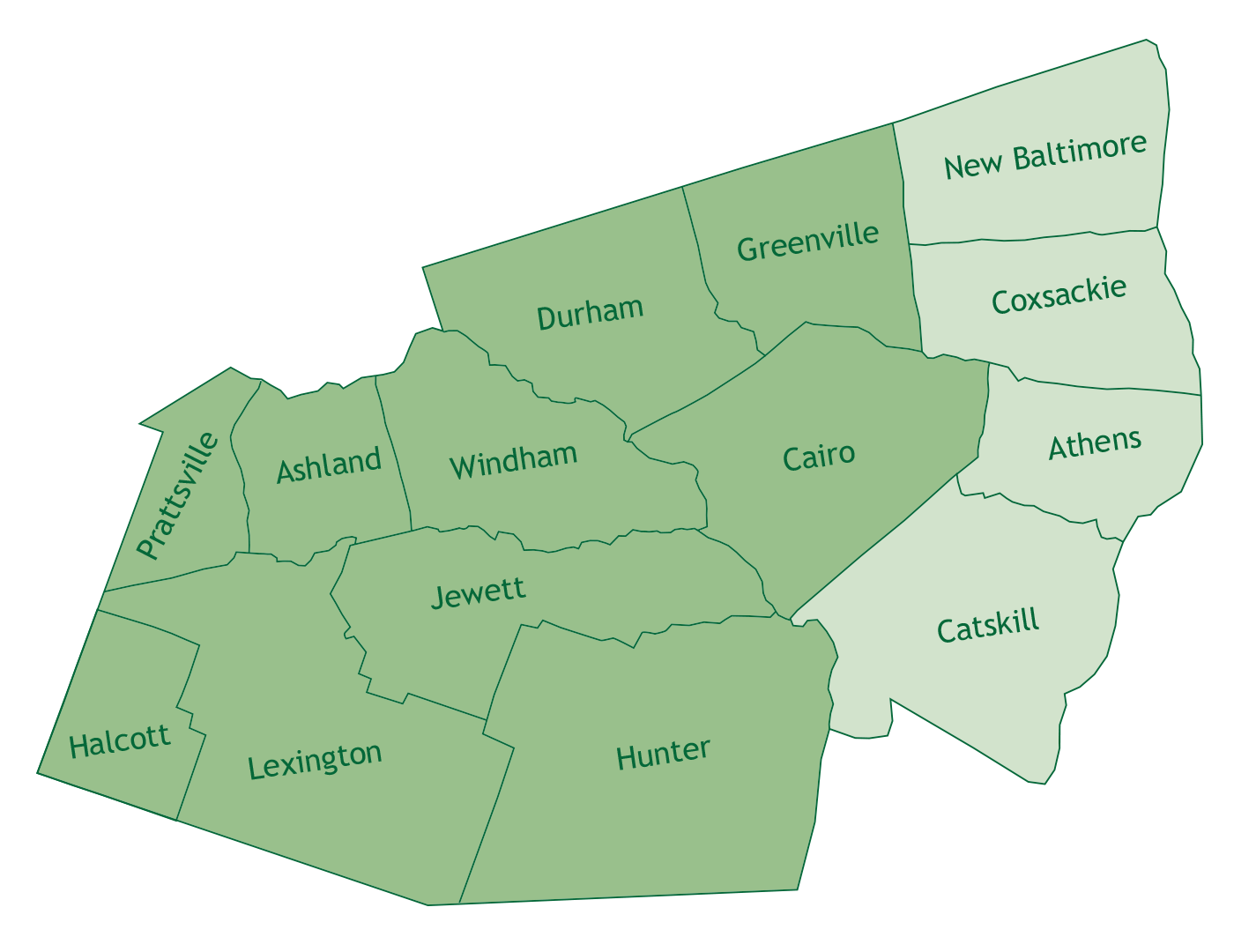 River Towns in Greene County