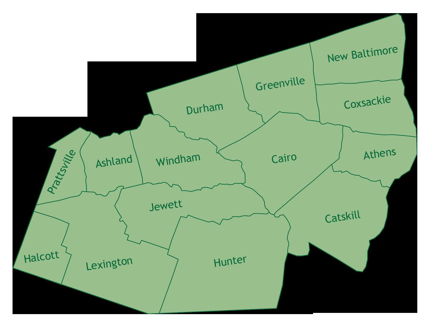 Greene County map